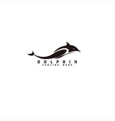 Dolphin logo modern concept awesome design vector