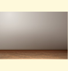 empty room interior realistic wooden floor vector image