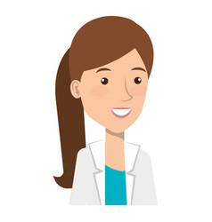 Female doctor avatar character vector