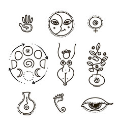 Feminine and all seeing eye vector