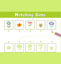 find correct shadow matching game with cute vector image