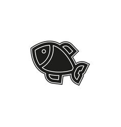 fish - nature symbol seafood icon - ocean fishing vector image