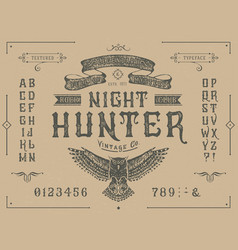 Font miracle craft retro vintage typeface design vector