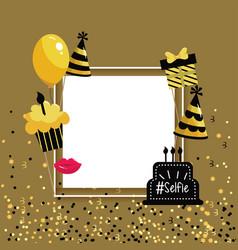 Frame decoration to hapy birthday celebration vector
