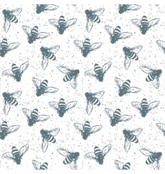 Grunge seamless pattern with insects vector image