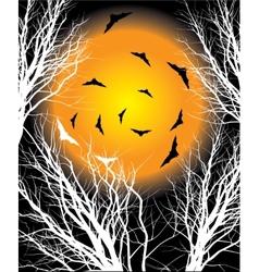 Halloween moon night background vector