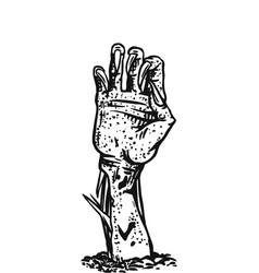 hand dead halloween creeping zombie vector image