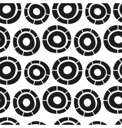 hand drawn simple circles seamless pattern vector image