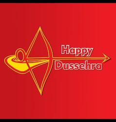 happy dussehra festival poster or greeting design vector image