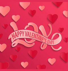 happy valentines day design card vector image