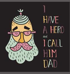Hero dad four vector
