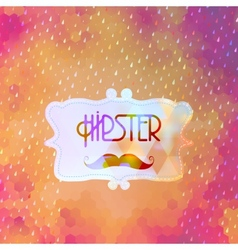 Hipster background on geometric shapes EPS 10 vector