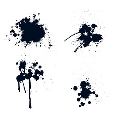 Ink splatters vector
