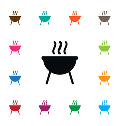 isolated bbq icon barbecue element can be vector image