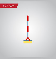 isolated cleaner flat icon sweep element vector image