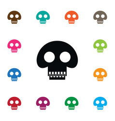 isolated pirate icon scary element can be vector image