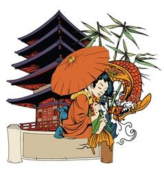 Japanese emblem vector