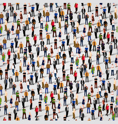 Large group of people seamless background vector