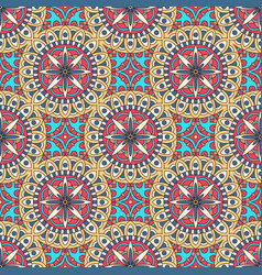 Mandala texture in bright colors abstract vector