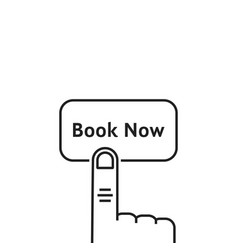 minimal thin line book now button vector image