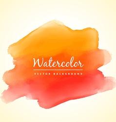 Orange watercolor paint vector