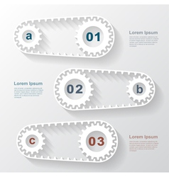 Paper gears infographic 4 vector