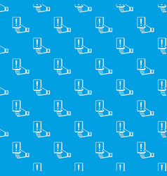penalty card pattern seamless blue vector image