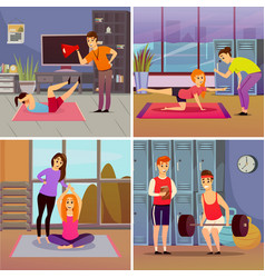 Personal sport trainer orthogonal concept vector