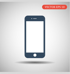phone icon blue color eps 10 vector image