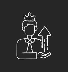 Power broker chalk white icon on black background vector