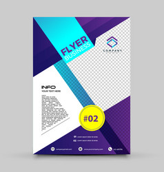 purple business flyer design vector image