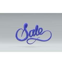 Sale Sign 3D lettering vector image