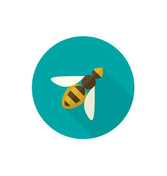 Simple with a honey bee vector