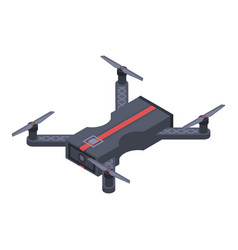 smart drone icon isometric style vector image
