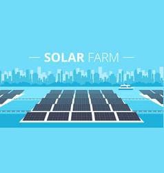 solar farm concept vector image