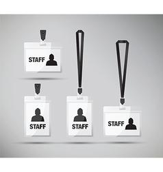 Staff pass lanyards vector