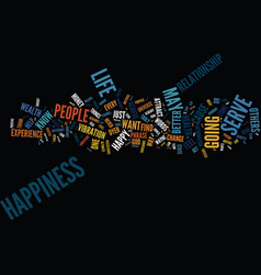 The easiest way to achieve happiness text vector