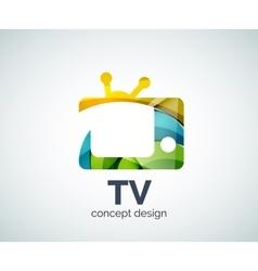 TV logo template vector