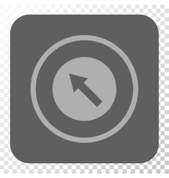 Up-Left Rounded Arrow Rounded Square Button vector