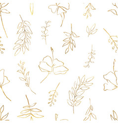 watercolor seamless pattern with golden vector image