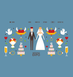 wedding expo website design vector image