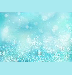 winter christmas bokeh background vector image