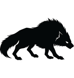 wolf silhouette vector image