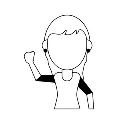 Woman avatar icon image vector