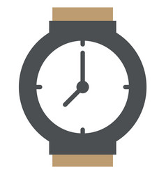 wristwatch with brown strap isolated image vector image