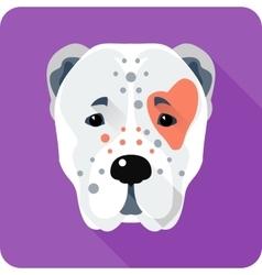 Central Asian Shepherd Dog icon flat design vector image vector image