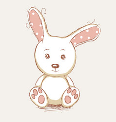 cute toy rabbit vector image