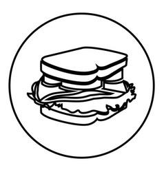 figure emblem sticker sandwich icon vector image vector image