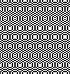 Seamless black hexagon pattern background vector