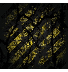 square texture cracked asphalt of old worn black vector image